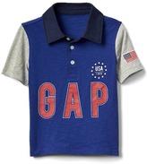 Gap Americana logo slub polo