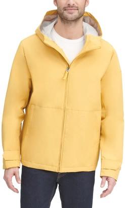 Dockers Men's Water-Resistant Hooded Rain Jacket