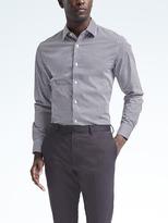 Camden-Fit Non-Iron Micro-Gingham Shirt