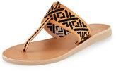 Joie Zariah Embroidered Thong Sandal, Natural/Black