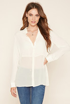 Forever 21 Contemporary Collared Chiffon Blouse
