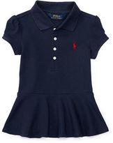Ralph Lauren 2-6X Stretch Mesh Peplum Polo Shirt