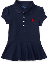 Ralph Lauren Stretch Mesh Peplum Polo Shirt