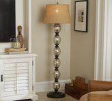 Pottery Barn Stacked Mercury Glass Floor Lamp Base