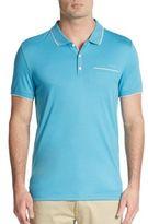 Calvin Klein Contrast-Trim Cotton Polo Shirt