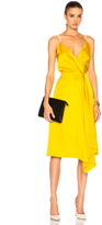Victoria Beckham Heavy Fluid Silk Wrap Dress