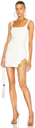 Area Crystal Flower Cutout Dress in Ivory | FWRD