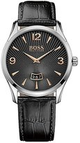 HUGO BOSS Commander 1513425 Black / Black Leather Analog Quartz Men's Watch
