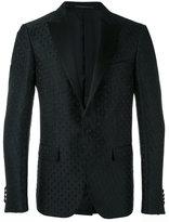 Pal Zileri cross pattern blazer - men - Silk/Polyester/Cupro/Viscose - 48