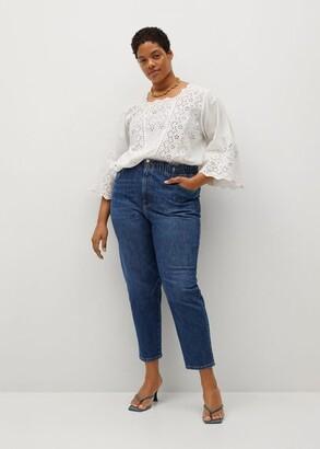 MANGO Crop Paperbag jeans