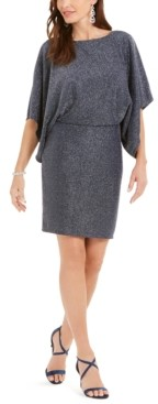 Jessica Howard Metallic Shimmer Blouson Dress