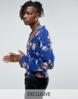 Reclaimed Vintage Inspired Overhead Shirt In Floral Print Reg Fit