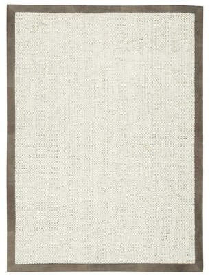 """Calvin Klein Lucia Hand-Knotted Oyster Area Rug Rug Size: Rectangle 5'6"""" x 7'5"""""""