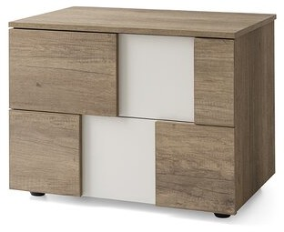 Calligaris Utah 4 Drawer Nightstand Color (Drawer): Vintage Oak/Matt Hemp Melamine Wood