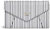GUESS Gia Striped Envelope Clutch