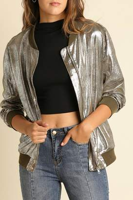 Umgee USA Silver Metallic Jacket
