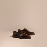 Burberry Burnished Leather Derby Shoes