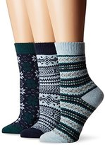 Muk Luks Women's Nordic Fair Isle Socks 3-Pack
