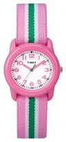 Timex Kid's Watch with Striped Strap - Pink/Green TW7C059009J