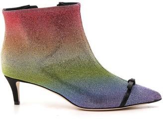 Marco De Vincenzo Embellished Kitten Heel Boots