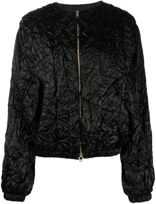 Rochas Crumpled-Effect Bomber Jacket
