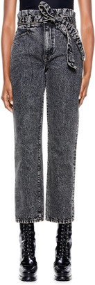 Alice + Olivia Amazing Paperbag Waist Girlfriend Jeans