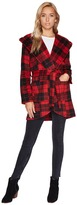 BB Dakota Stanley Buffalo Plaid Wrap Coat Women's Coat
