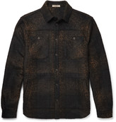 Bottega Veneta - Slim-fit Checked Wool-blend Flannel Overshirt