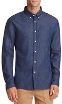 Saturdays Nyc Crosby Indigo Denim Slim Fit Button Down Shirt