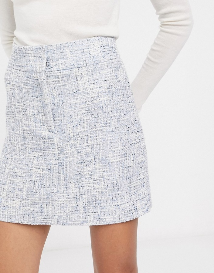 Thumbnail for your product : And other stories & tweed a-line mini skirt in blue