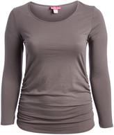 Penelope's Closet Women's Tee Shirts PEWTER - Pewter Long-Sleeve Scoop Neck Top - Plus