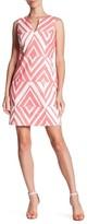Taylor 8773MX Sleeveless Chevron Print Cotton Dress