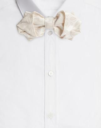 Dolce & Gabbana Tie-Print Silk Jacquard Bow Tie
