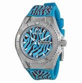 Technomarine Women's 114018 Cruise Monogram Jungle Analog Display Quartz Blue Watch