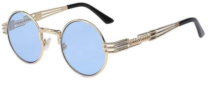 84979dacb6 MO Men Round Vintage Retro Mirror UV400 Sunglasses Women Shades Coating Sun  Glasses (, 4.8)