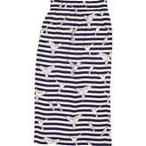 Mother of Pearl Blue Silk Skirt for Women