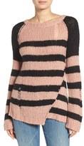 Pam & Gela Women's Colorblock Stripe Sweater