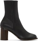 Helmut Lang Black Stretch Nappa Square Toe Boots