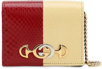 Gucci Zumi Bicolor Python Skin Chain Wallet