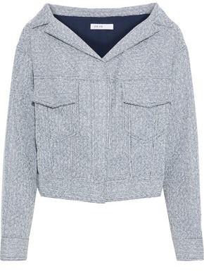 ADEAM Cropped Metallic Boucle-tweed Jacket