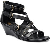 Isola Petra Buckled Strappy Ankle Strap Wedge Sandals
