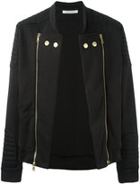 Pierre Balmain double zips biker jacket - men - Cotton/Polyester - 52