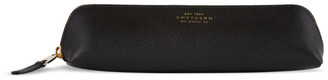 Smythson Black Panama Pencil Case
