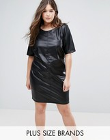 Junarose Faux Leather Dress