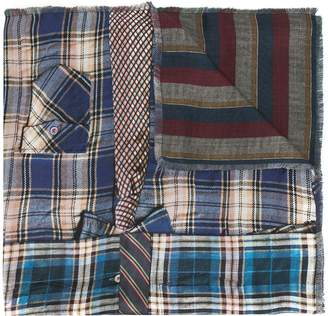 Pierre Louis Mascia Pierre-Louis Mascia combined plaid-print silk scarf
