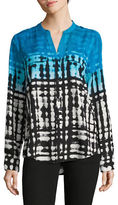 Calvin Klein Ombre Grid Printed Blouse