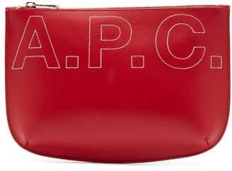 A.P.C. Sarah Logo Embroidered Make Up Bag - Womens - Red