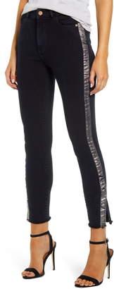 DL1961 Instasculpt Farrow High Waist Crop Split Hem Skinny Jeans