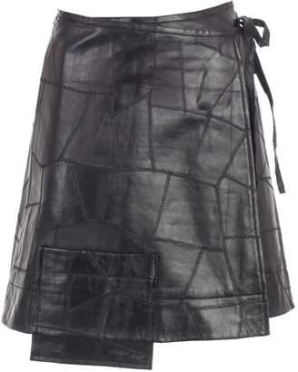 Ganni Skirt Short Leather