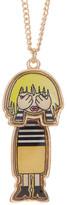 Betsey Johnson Peekaboo Emoji Pendant Necklace